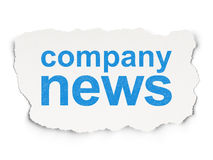 News concept: Company News on Paper background Stock Photo