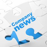 News concept: Company News on puzzle background Stock Photography