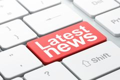 News concept: Latest News on computer keyboard background Stock Photography