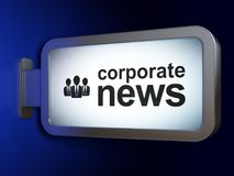 News concept: Corporate News and Business People on billboard background. News concept: Corporate News and Business People on advertising billboard background Stock Images