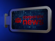 News concept: Corporate News and Business People on billboard background. News concept: Corporate News and Business People on advertising billboard background Royalty Free Stock Photo