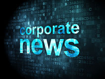 News concept: Corporate News on digital background. News concept: pixelated words Corporate News on digital background, 3d render Stock Photos