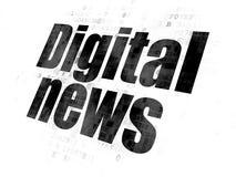 News concept: Digital News on Digital background. News concept: Pixelated black text Digital News on Digital background Stock Photos