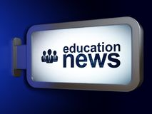 News concept: Education News and Business People on billboard background. News concept: Education News and Business People on advertising billboard background Royalty Free Stock Photography
