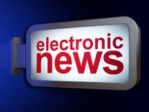 News concept: Electronic News on billboard background. News concept: Electronic News on advertising billboard background, 3D rendering Stock Image