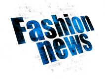 News concept: Fashion News on Digital background Stock Photography