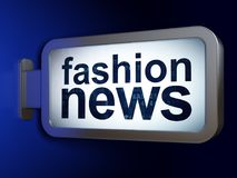 News concept: Fashion News on billboard background. News concept: Fashion News on advertising billboard background, 3D rendering Royalty Free Stock Photos