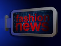 News concept: Fashion News on billboard background. News concept: Fashion News on advertising billboard background, 3D rendering Royalty Free Stock Photography