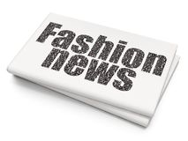 News concept: Fashion News on Blank Newspaper background. News concept: Pixelated black text Fashion News on Blank Newspaper background, 3D rendering Stock Photos