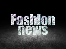 News concept: Fashion News in grunge dark room Stock Photography