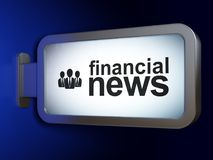 News concept: Financial News and Business People on billboard background. News concept: Financial News and Business People on advertising billboard background Stock Image