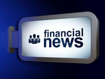 News concept: Financial News and Business People on billboard background. News concept: Financial News and Business People on advertising billboard background Royalty Free Stock Image