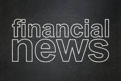News concept: Financial News on chalkboard background. News concept: text Financial News on Black chalkboard background Stock Image