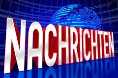News concept - in German stock illustration