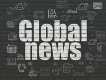 News concept: Global News on wall background Royalty Free Stock Photography