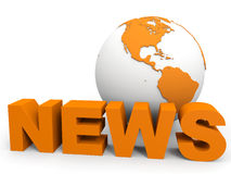 News concept. News globe concept. 3D illustration Royalty Free Stock Photography