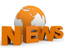 News concept. News globe concept. 3D illustration Royalty Free Stock Images