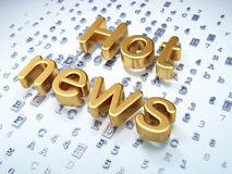 News concept: Golden Hot News on digital Stock Image