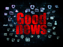 News concept: Good News on Digital background Royalty Free Stock Images