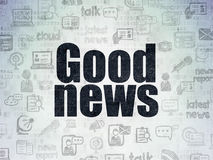 News concept: Good News on Digital Paper. Background Stock Photography