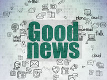 News concept: Good News on Digital Paper Royalty Free Stock Photo