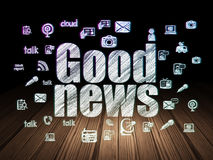 News concept: Good News in grunge dark room Royalty Free Stock Photo