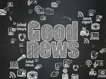 News concept: Good News on School Board background Stock Images