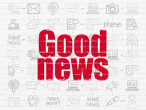 News concept: Good News on wall background Royalty Free Stock Photo