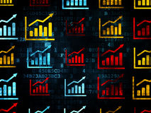 News concept: Growth Graph icons on Digital Stock Images