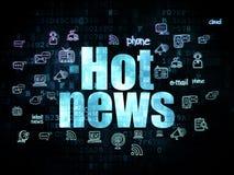 News concept: Hot News on Digital background Stock Photos