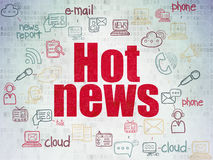 News concept: Hot News on Digital Paper background Royalty Free Stock Images