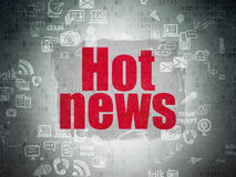 News concept: Hot News on Digital Paper background Stock Photo