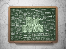 News concept: Hot News on School Board background Royalty Free Stock Photography