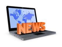 News concept. Isolated on white.3d rendered royalty free stock images