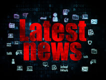 News concept: Latest News on Digital background Royalty Free Stock Photos