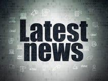 News concept: Latest News on Digital Paper Stock Photo