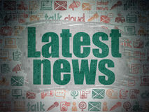 News concept: Latest News on Digital Paper Royalty Free Stock Image