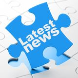 News concept: Latest News on puzzle background Royalty Free Stock Photo