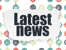 News concept: Latest News on Torn Paper background Royalty Free Stock Image
