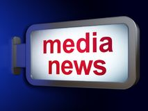 News concept: Media News on billboard background. News concept: Media News on advertising billboard background, 3D rendering Stock Photography