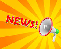 News. Concept of News megaphone 3d rendering Stock Photography