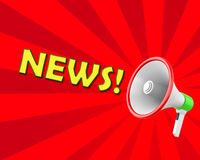 News. Concept of News megaphone 3d rendering Royalty Free Stock Photos