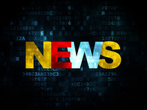 News concept: News on Digital background Royalty Free Stock Photography