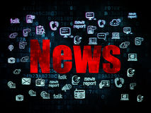 News concept: News on Digital background Royalty Free Stock Photos