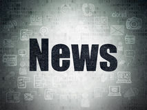 News concept: News on Digital Paper background Royalty Free Stock Photo