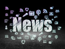 News concept: News in grunge dark room Stock Photography