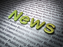 News concept:  News on News background. 3d render Stock Images