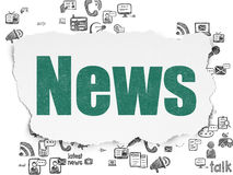 News concept: News on Torn Paper background Royalty Free Stock Images