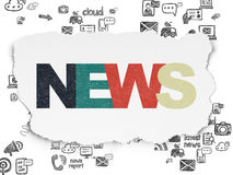 News concept: News on Torn Paper background Royalty Free Stock Image