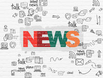 News concept: News on wall background Royalty Free Stock Photos